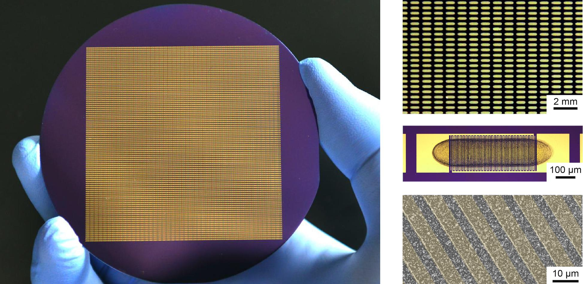 Wafer-scale printed 2D crystal devices